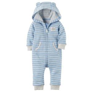 Hooded Brushed Fleece Jumpsuit