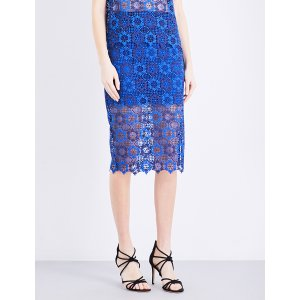 SANDRO - Floral guipure-lace pencil skirt   Selfridges.com