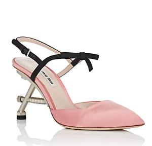 $209.5起+免邮Miu Miu美鞋热卖 额外5折收敲萌蝴蝶结高跟鞋