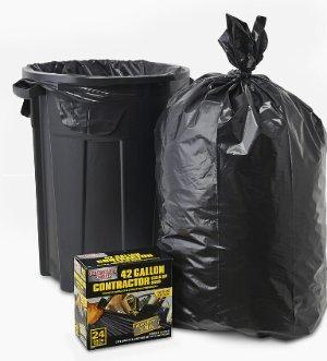 $8.98户外建筑垃圾42加仑垃圾袋(共24个)