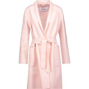 Wool and angora-blend coat