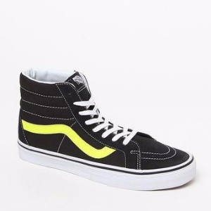 Vans Neon Leather Sk8-Hi Reissue Black & Yellow Shoes at PacSun.com