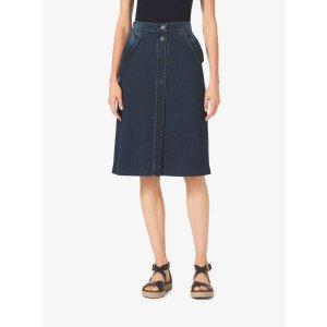 Denim Midi Skirt | Michael Kors