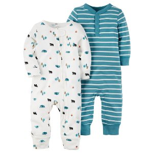 Baby Boy 2-Pack Babysoft Coveralls | Carters.com