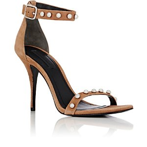 Alexander Wang Antonia Studded Suede Ankle-Strap Sandals   Barneys Warehouse