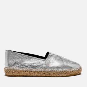 KENZO Women's Metallic Tiger Espadrilles - Silver - Free UK Delivery over £50