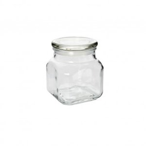 ANCHOR HOCKING Emma Jar w/ Glass Cover, 20oz - Clearance - Sale
