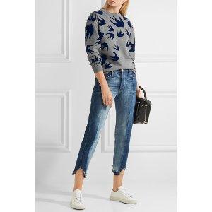 McQ Alexander McQueen | Flocked cotton-blend terry sweater