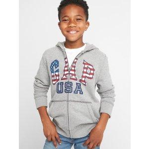 Americana logo zip hoodie