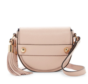 MILLY Astor Leather Saddle Crossbody Bag