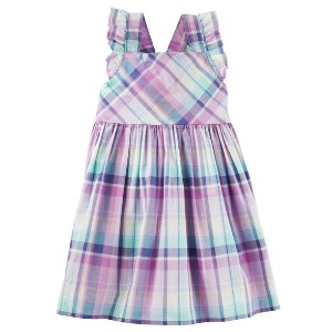 Toddler Girl Plaid Ruffle Dress | OshKosh.com