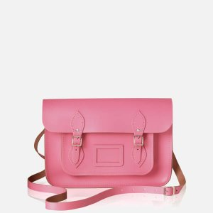 The Cambridge Satchel Company Women's 14 Inch Leather Satchel - Pink