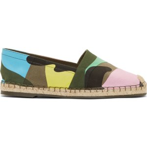 Valentino: Army Psychedellic Camouflage Espadrilles