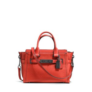 COACH Swagger 27 in Pebble Leather | Bloomingdale's