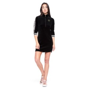VELOUR SPORTY HERITAGE DRESS