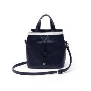 Women's Break Point Colorblock Leather Bucket Bag | LACOSTE
