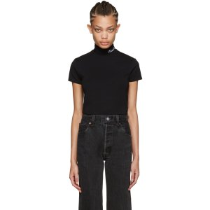 Vetements: SSENSE Exclusive Black Mock Neck Pullover