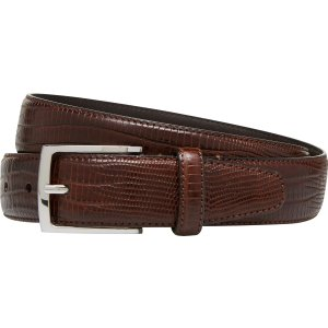 Lizard Embossed Leather Belt CLEARANCE - Accessories | Jos A Bank