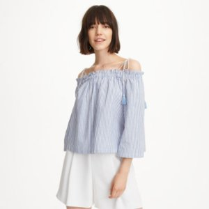 Women | Long Sleeve | Janou Off-the-Shoulder Top | Club Monaco
