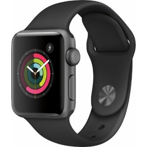 Apple Apple Watch Series 2 42mm Space Gray Aluminum Case Black Sport Band Gray MP062LL/A - Best Buy