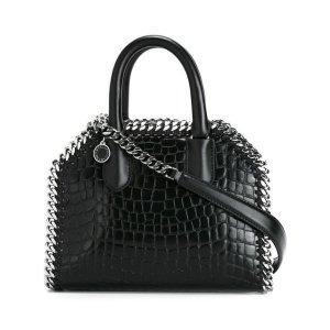 Stella McCartney Black Falabella Snakeskin Effect Mini Shoulder Bag - Farfetch