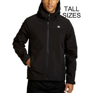 Champion Men's Tall Softshell Jacket With Quilted Synthetic Down