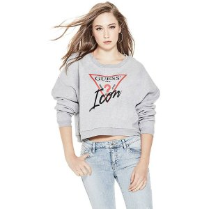 Icon Cropped Sweatshirt at Guess