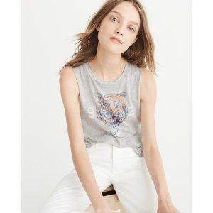 Womens Graphic Muscle Tank | Womens Tops Sale | Abercrombie.com