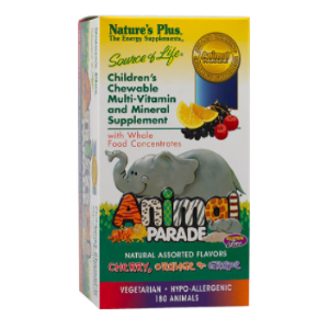 Nature's Plus Animal Parade® Children's Chewable Multi-Vitamin and Mineral Assorted -- 180 Chewable Tablets