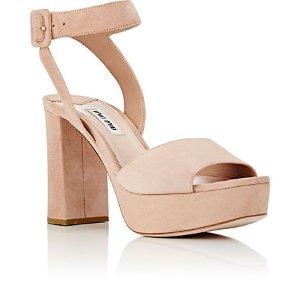 Miu Miu Ankle-Strap Platform Sandals | Barneys New York