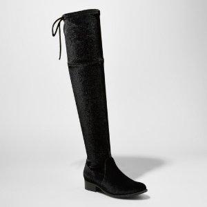 Women's Sidney Velvet Over the Knee Boots - A New Day™