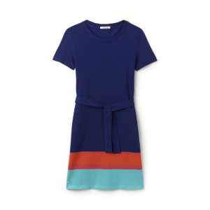 Women's Colorblock Band Piqué T-Shirt Dress | LACOSTE