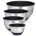 Sterline Stainless Steel Mixing Bowl Set of 4 w/ Lids