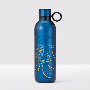 Golden Siren Anniversary Collection Two-Piece Stainless Steel Navy Blue Water Bottle
