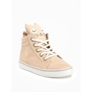 Critter Lace-Up Sneakers for Toddler Girls