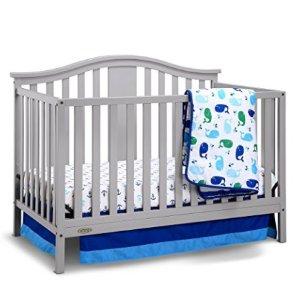 $129.99Graco Solano 4合1多功能婴儿床+床垫 浅灰色