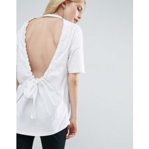 ASOS White | ASOS WHITE T-Shirt With Bow Back