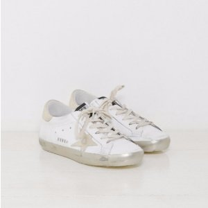 Golden Goose Sneakers Superstar in Sparkle White and Gold Star | The Dreslyn