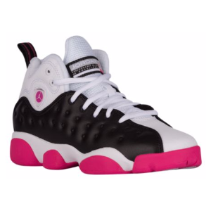 Jordan Jumpman Team II - Girls' Grade School - Basketball - Shoes - Black/White/Vivid Pink