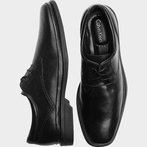 Calvin Klein Buster Black Plain Toe Lace-Up Shoes - Men's Dress Shoes | Men's Wearhouse