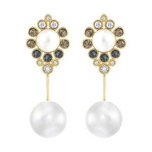 East Wire Pierced Earrings - USA - Swarovski Online Shop