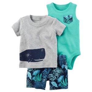 Baby Boy 3-Piece Little Short Set   Carters.com