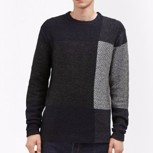 Twill Check Knit Jumper | Mens Sale | French Connection Usa