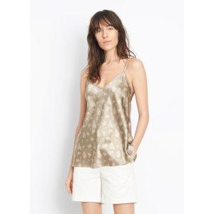 Floral Silk V-Neck Camisole for Women | Vince