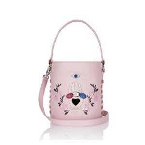Santina Mini Bucket Bag Blush Pink