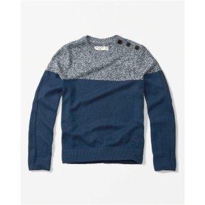 boys button-shoulder crew neck sweater   boys clearance   Abercrombie.com