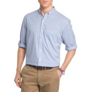 Izod® Men's Long Sleeve Advantage Stripe Button Down Woven Shirt