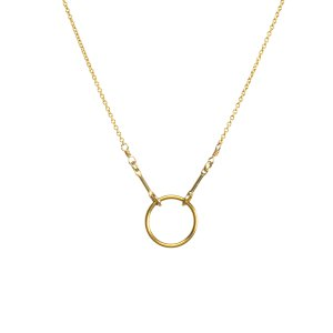 must-have - crystal story the original karma necklace, gold dipped