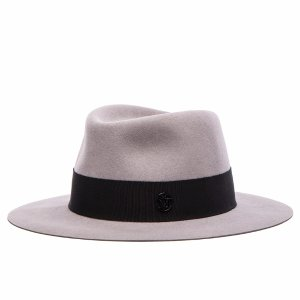 Maison Michel Andre Hat in Pearl Grey | FWRD