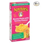 Annie's Macaroni and Cheese, Bunny Pasta with Yummy Cheese, Fun Shaped Cheddar Pasta, 6 oz Box (Pack of 12)